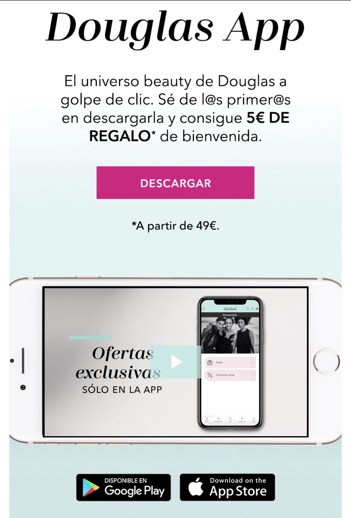 5€ descuento en Douglas app
