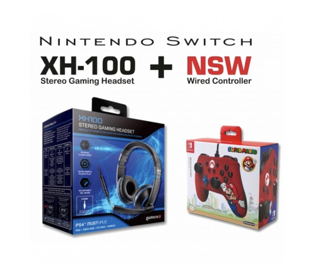Pack Mando Mario + Auricular XH100 para Nintendo Switch - Outlet. Producto reacondicionado
