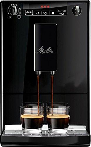 Melitta Caffeo Solo 950-222-Cafetera automaticá (1.2L, 15 bar, molinillo integrado, negra, 1400 W, 1.2 litros, Plástico