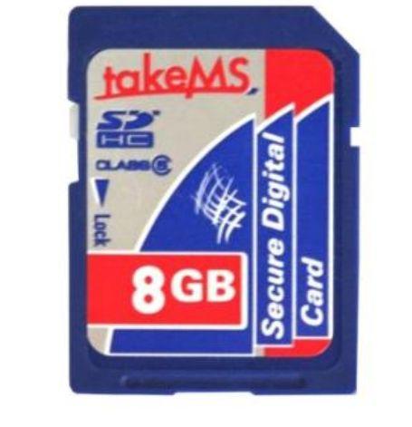 TakeMS - Tarjeta de Memoria Secure Digital (SD) SDHC 8 GB Clase 6 *Mínimo*