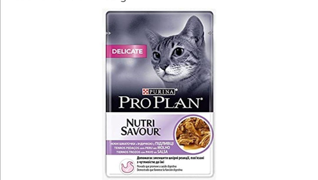 Purina ProPlan Delicate en Salsa Comida para Gato Adulto Pavo 24 x 85 g (compra recurrente)