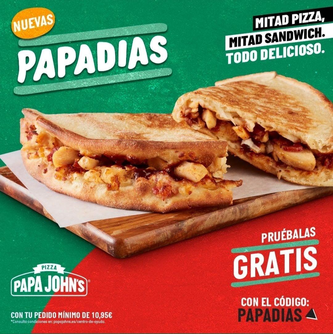 Papadias de Papa John's gratis pedido mínimo 10.95€