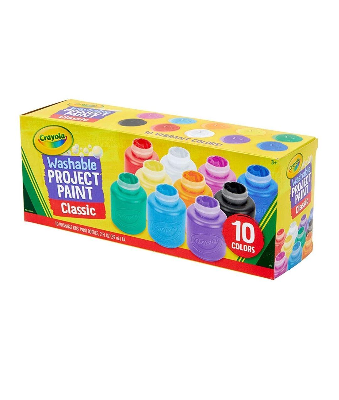 (Mínimo histórico)10 botes de pintura lavable Crayola
