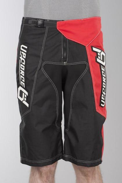 Pantalones de Cross Upforce Epic Freestyle Cortos Negro-Rojo