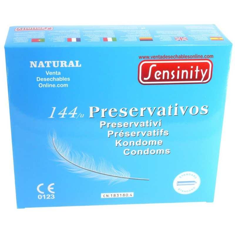Sensinity Preservativos Natural. Caja de 144 unidades
