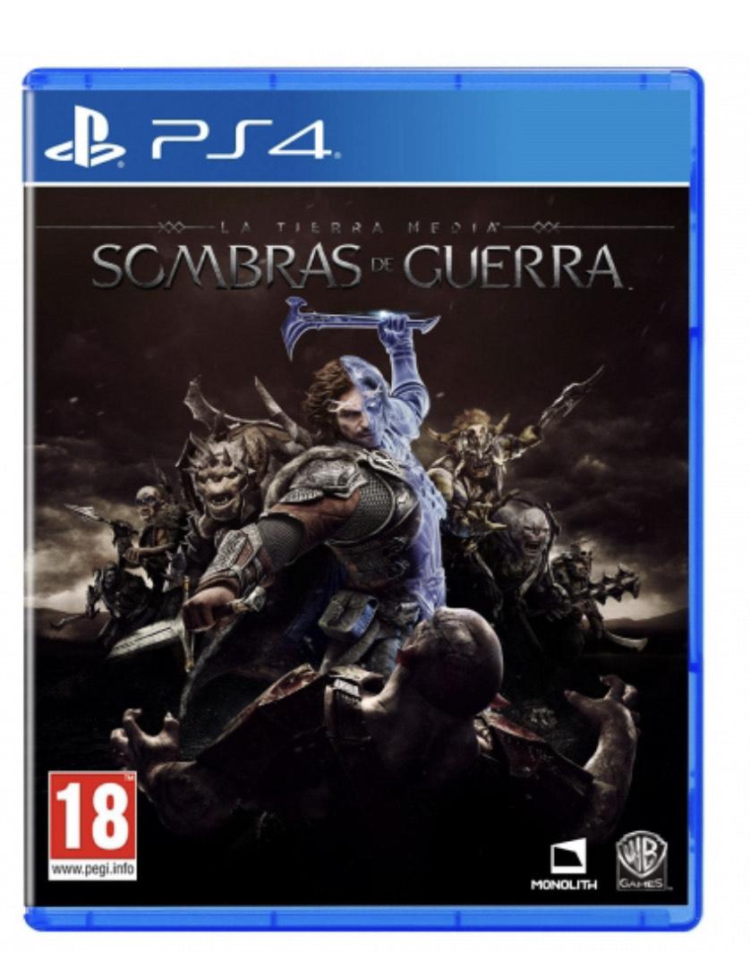 Tierra media sombras de guerra PS4 Físico