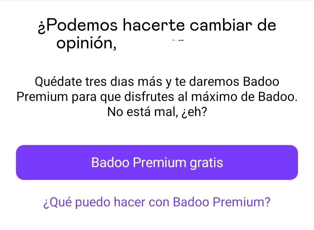 Badoo premium 3 días gratis