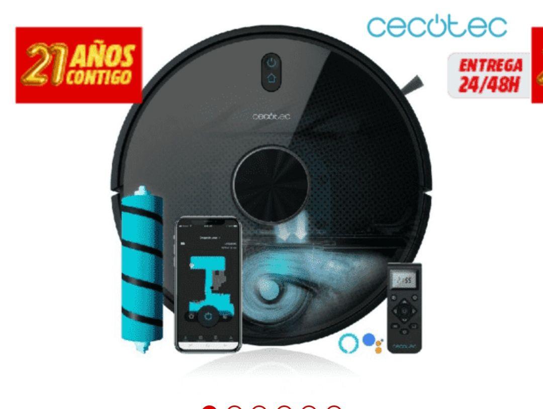 Robot aspirador - Cecotec Conga 5090, Cy-Clean, 5 modos , Wi-Fi Alexa y Google Assistant. tb en Amazon