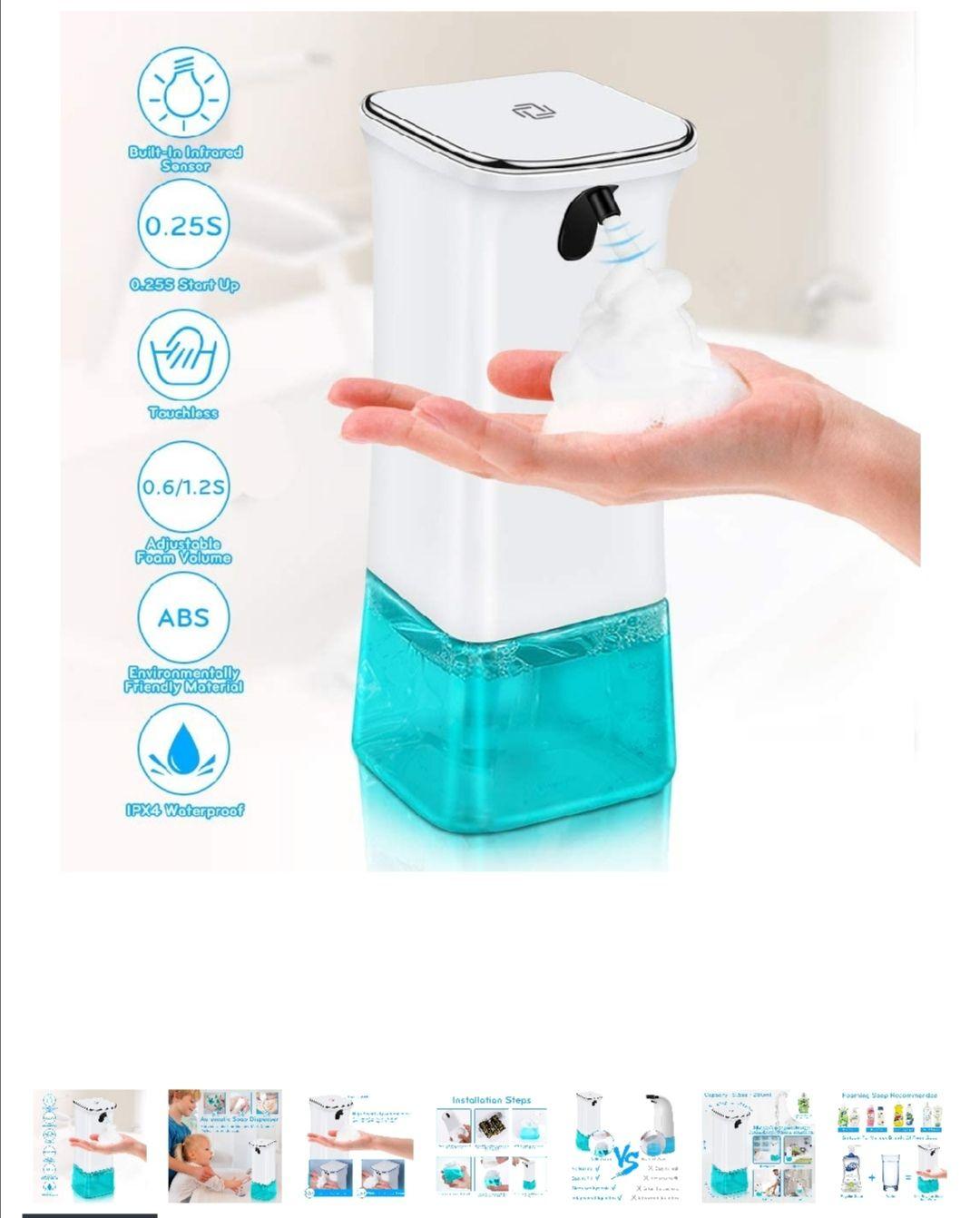 Dispensador automático (mínimo histórico) para jabón o gel hidroalcoholico