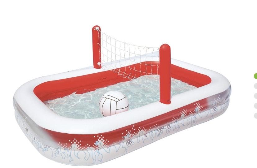 Piscina infantil hinchable y voleibol BESTWAY 254x168x97cm