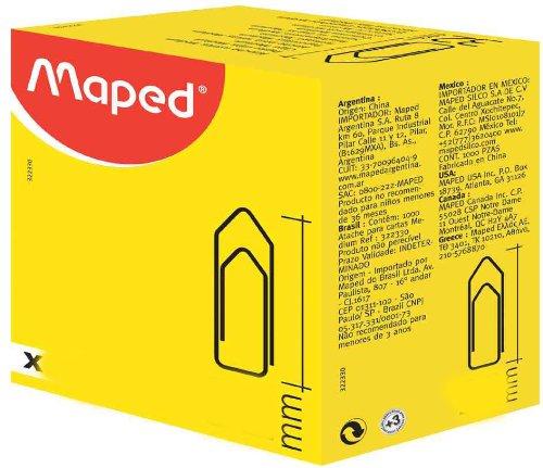 Paquete de 1000 clips para papeles.- Maped 322330