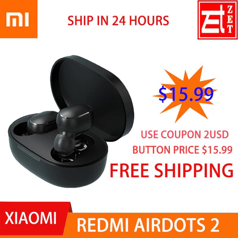 Original xiaomi redmi airdots 2 auriculares bluetooth