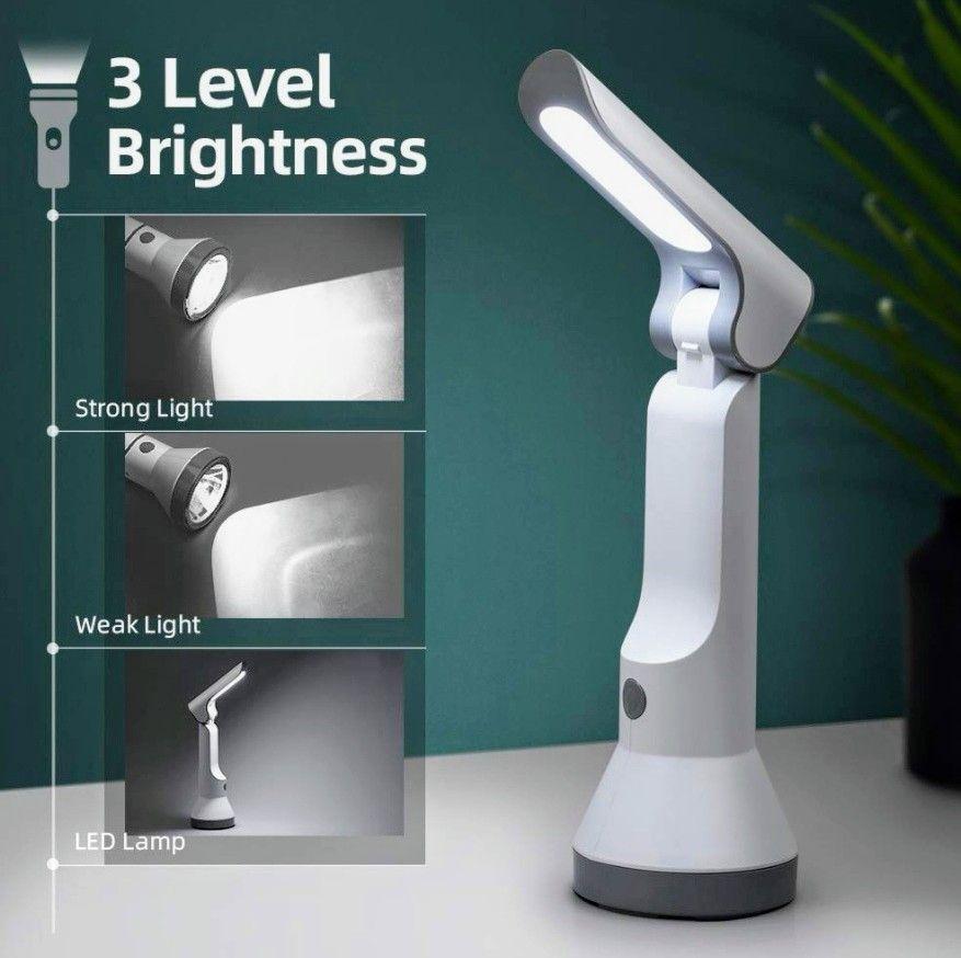 Linterna LED Recargable USB y Lámpara de mesa 2 en 1 (precio mínimo)