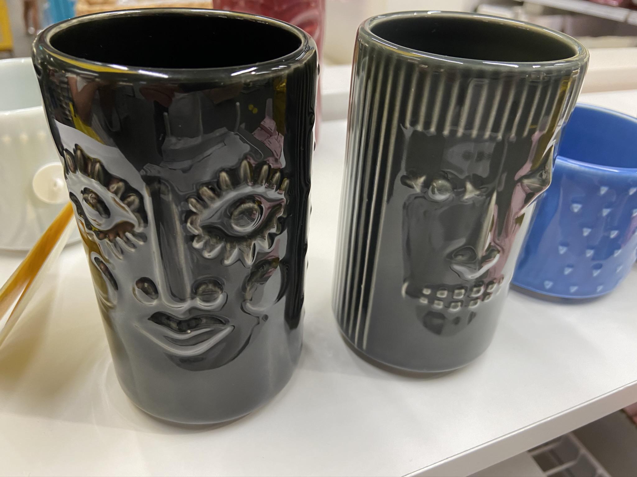 Vasos FREKVENS de gres, diseños tiki - IKEA