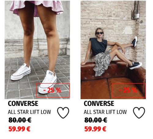 Converse Hasta 50% de Descuento