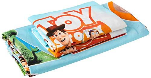 Disney Toy Story Patch - Juego 1 Funda nórdica doble y 2 Funda de Almohada para Cama Doble, Reversible, producto oficial