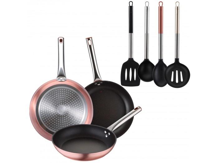 Pack 3 Sartenes Neon + accesorios de cocina
