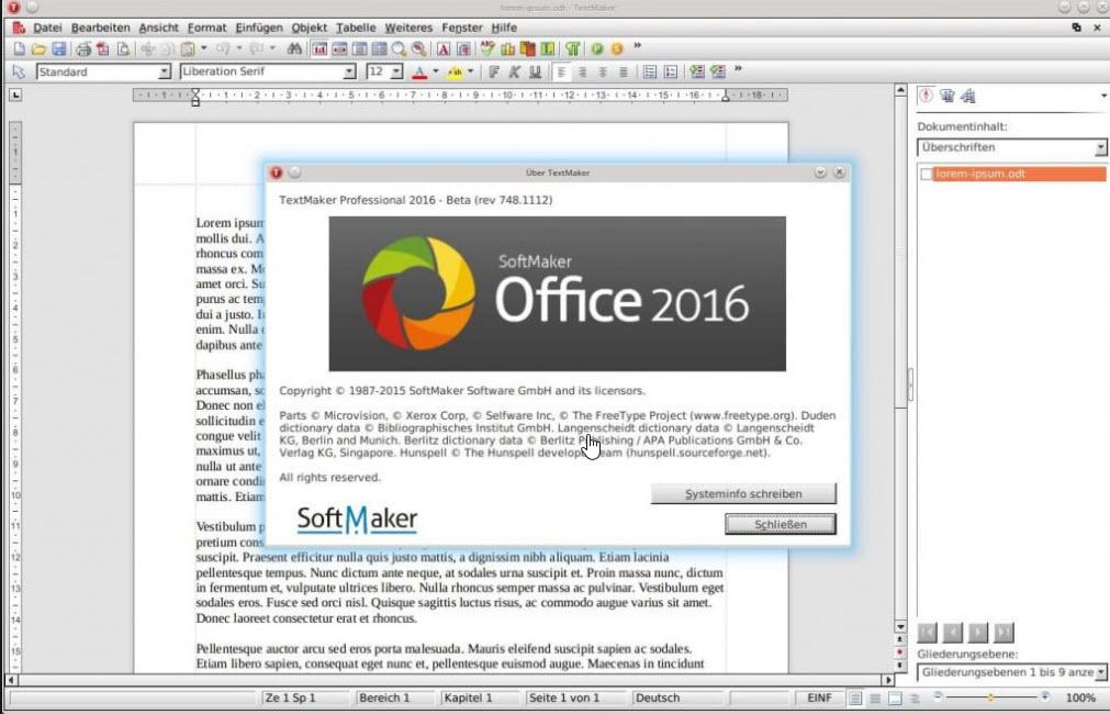 Softmaker Office 2016 para Windows gratis - desde pagina oficial
