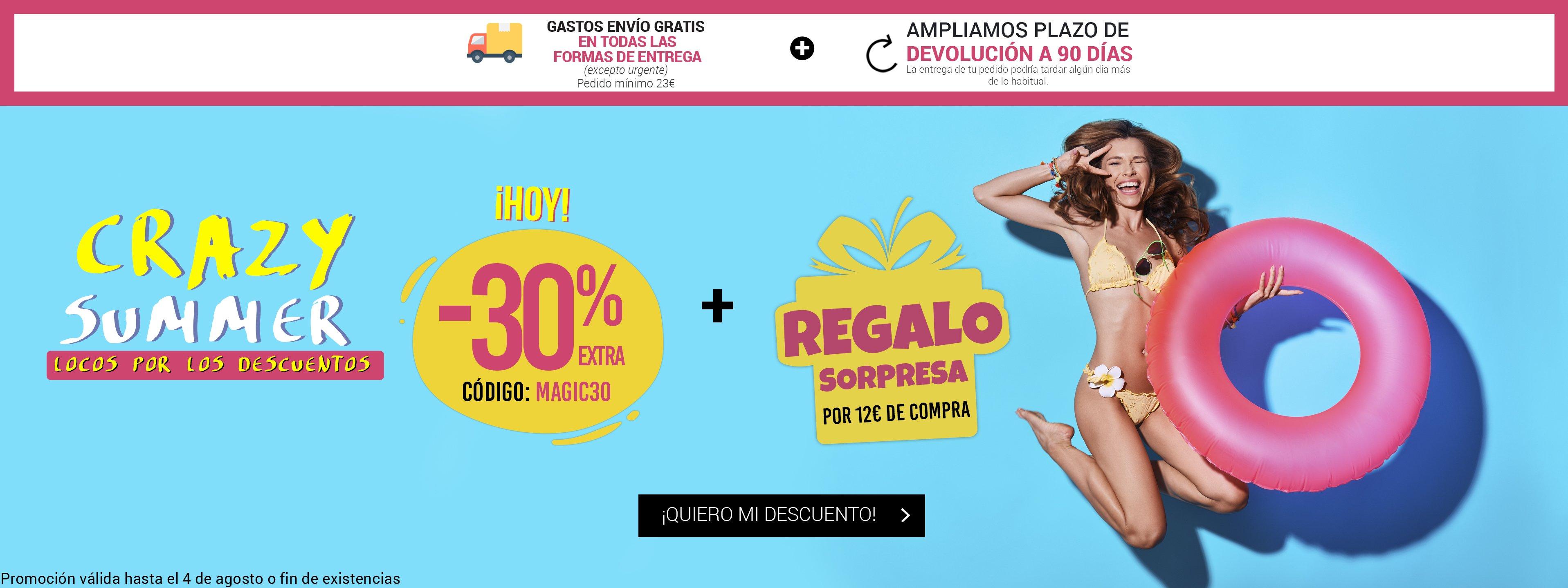 30% EXTRA - Código: MAGIC30 + Regalo Sorpresa Magic Outlet