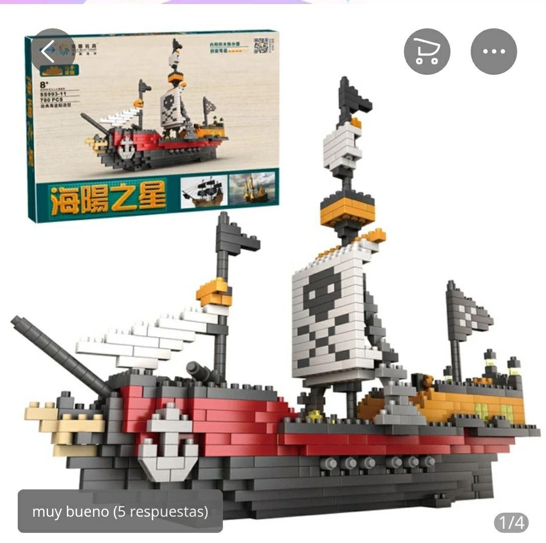 780 piezas Barco Pirata Juguete de bloques de construcción