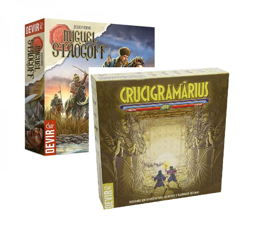 Pack juegos de mesa Miguel Strogoff + Crucigramarius