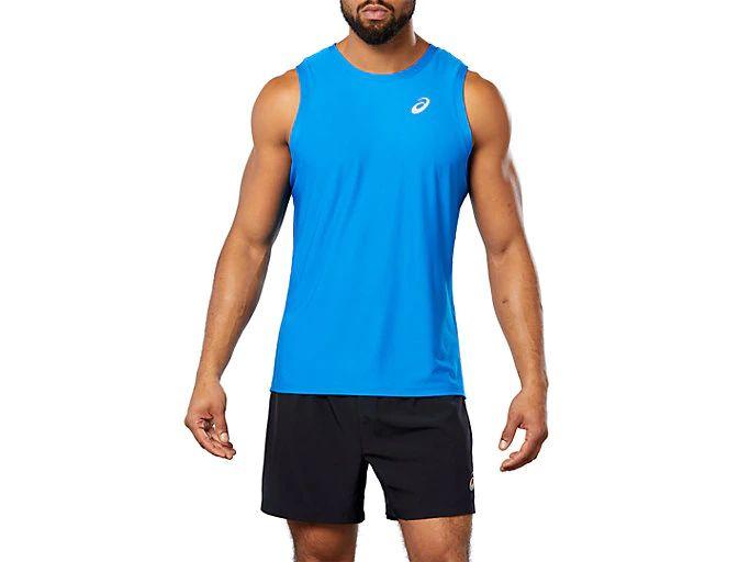Camiseta asics sin mangas entreno. Tallas M y XL