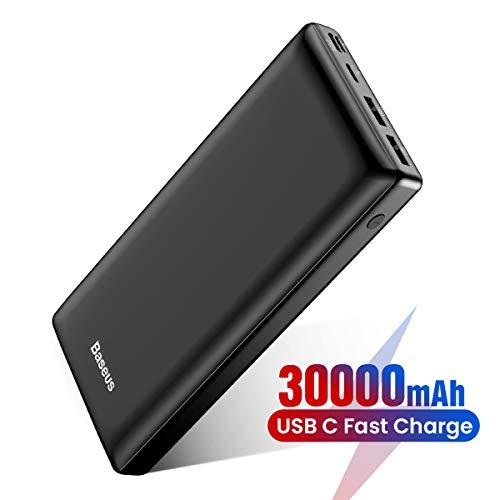 Baseus Batería Externa 30000mAh,Power Bank Bateria Portatil para Movil con USB C