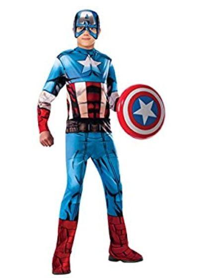 Rubie's -L Avengers - Disfraz Capitán América para Niño, Talla L ( 8-10 años)