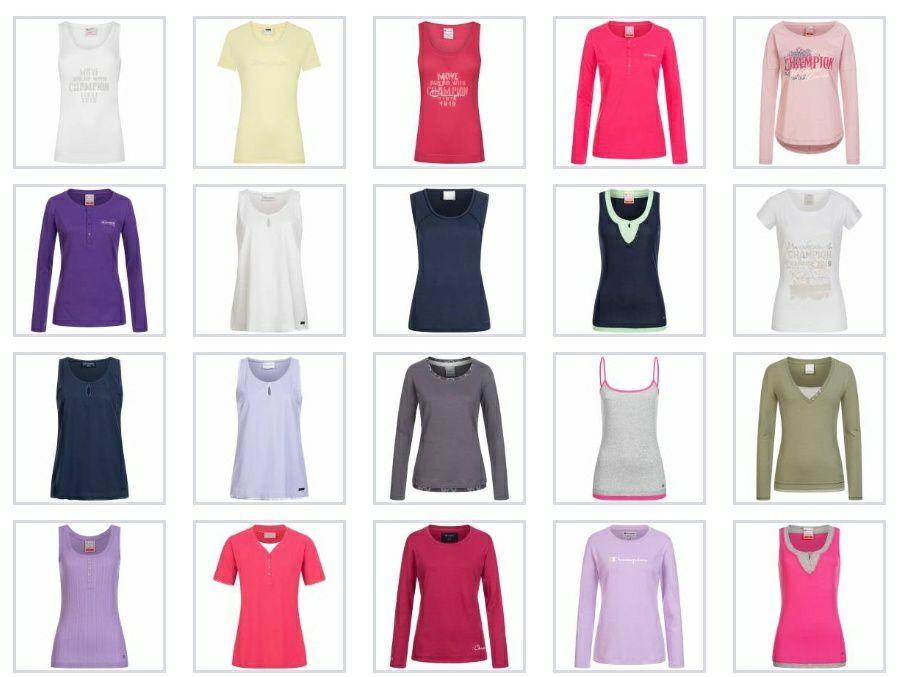 CHAMPIONS selección de camisetas deportivas mujer (Running-jogging-Tenis-Pádel) todas las tallas
