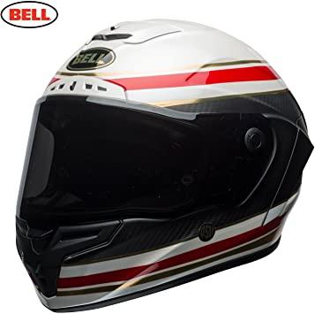 Casco de moto - Bell Helmets 7091943 Campana RACESTAR, Hombre, FÓRMULA RSD Blanco/Rojo M, Medium