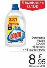 90 lavados detergente COLON 8'95 € (0'10 lavado) (tienda física carrefour)