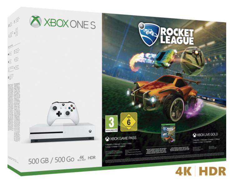 XBOX ONE 500 GB + Rocket League (Otras opciones con 10€ de descuento)