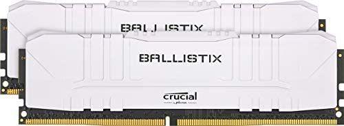 Crucial Ballistix BL2K8G26C16U4W 2666 MHz, DDR4, DRAM, Memoria Gamer para Ordenadores de sobremesa, 16GB (8GB x2), CL16, Blanco
