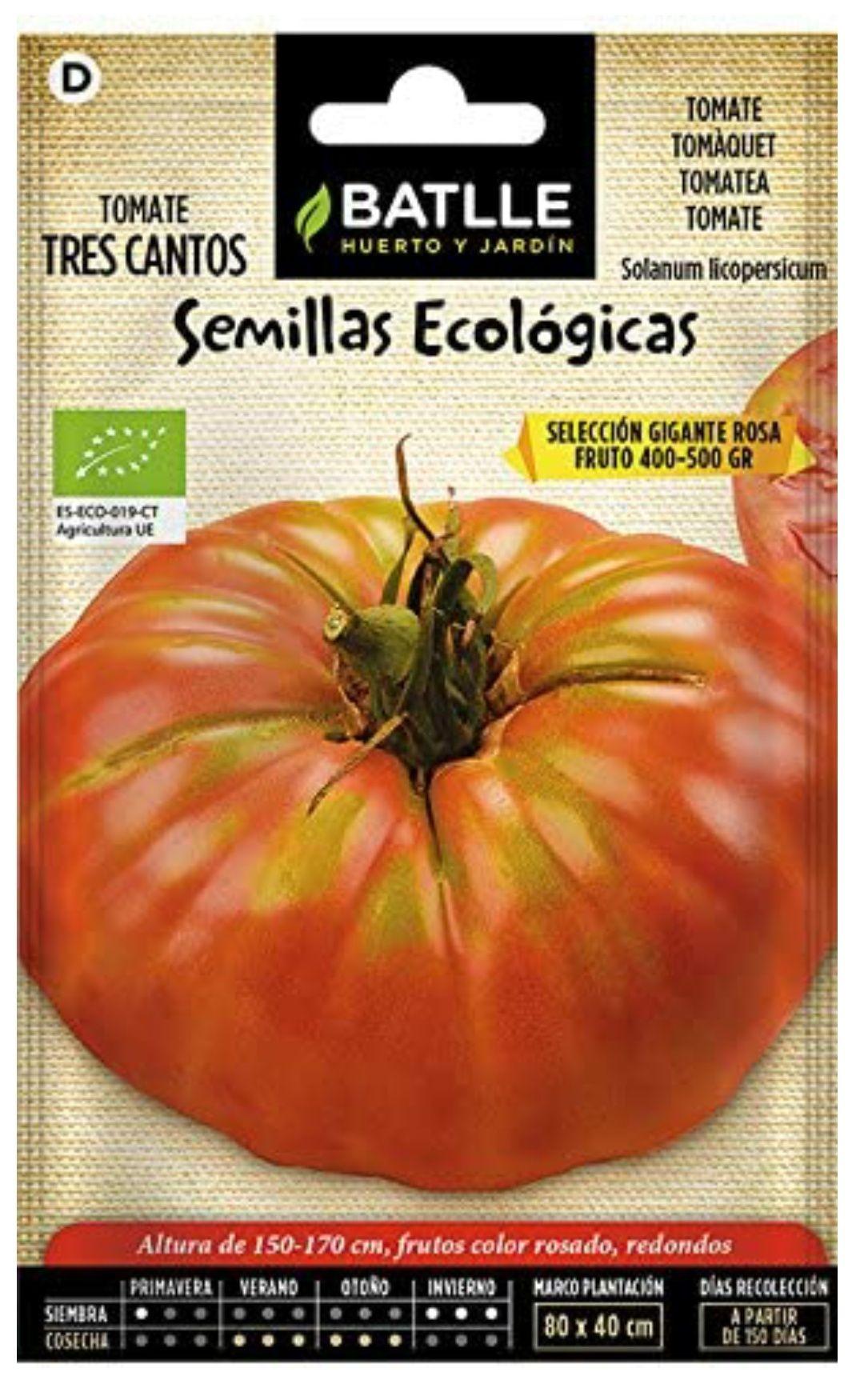 Semillas Ecológicas HORTÍCOLAS - TOMATE gigante rosa - ECO