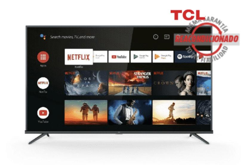 "REACONDICIONADO TV LED 50"" - TCL 50EP660 Titanium, UHD 4K, HDR PRO, Panel 10 bits, Dolby Audio, Android TV"