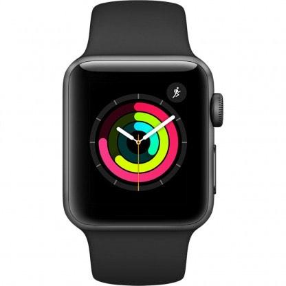 Apple Watch Series 3 (38mm) Aluminio en Gris Espacial y Correa Deportiva Gris - (MTF02) MQKV2