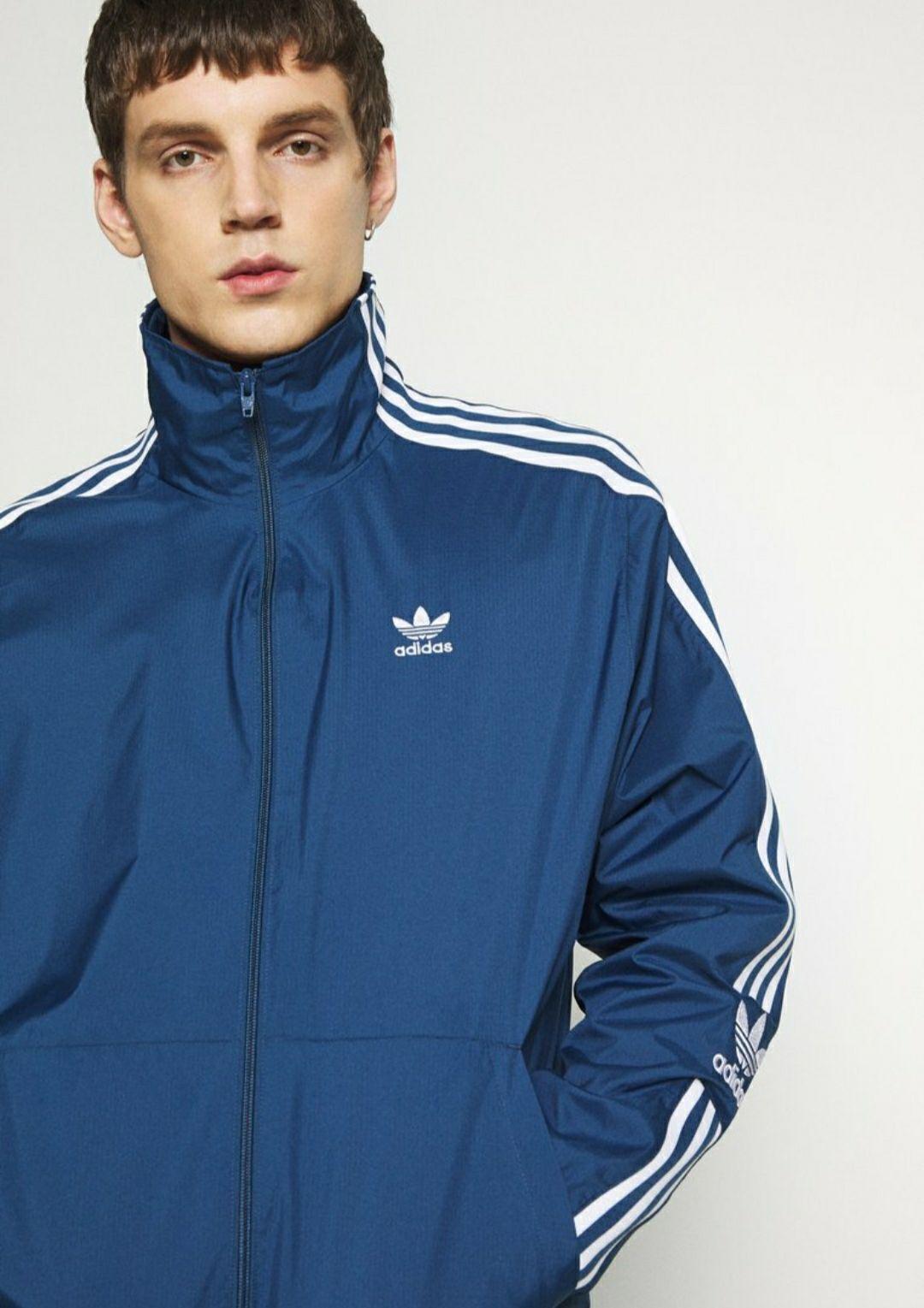 Adidas originals chaqueta fina azul (Todas las tallas)