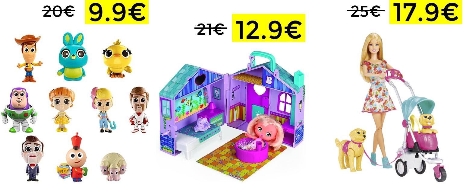 Descuentos en juguetes Barbie, Barriguitas y Toy Story