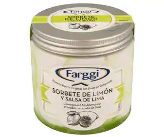 Tarrina Farggi sabor limón por 0,75€- Alcampo La Vaguada(Madrid)