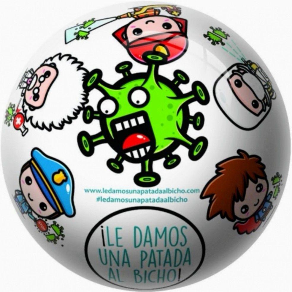"""""""LE DAMOS UNA PATADA AL BICHO"""" Balón Solidario Covid-19"""