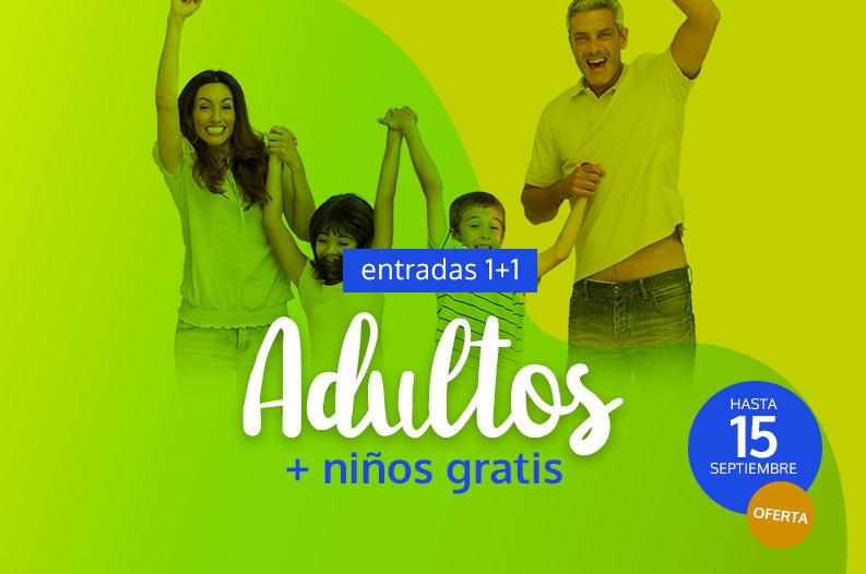 Entradas adulto + niño gratis para el Parque de Cabárceno