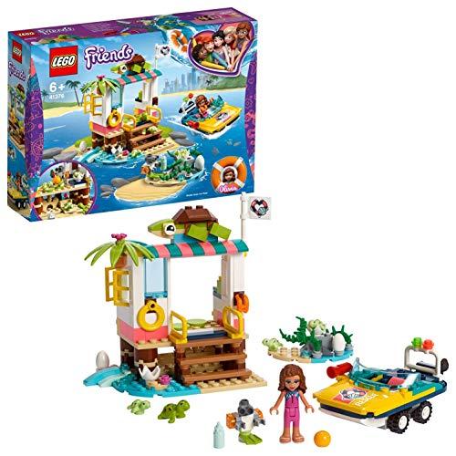 LEGO Friends - Misión de Rescate: Tortugas Nuevo juguete de construcción de Clínica Veterinaria con Lancha de Rescate, incluye Mini muñecas