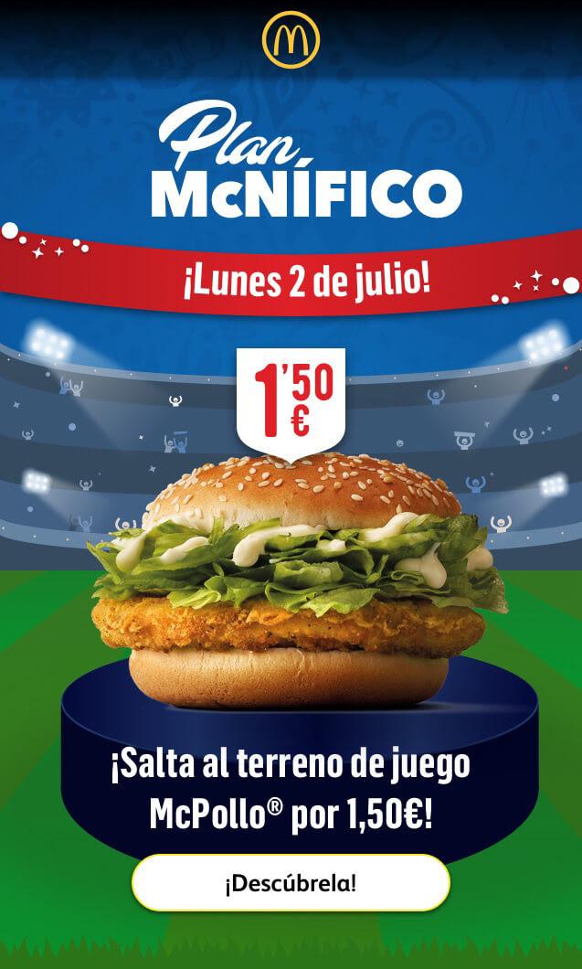 McPollo 1,50 € (Plan McNÍFICO)