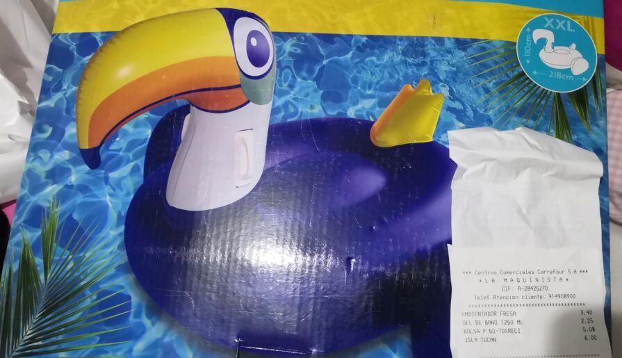 Colchoneta gigante 6 euros tucán para piscina