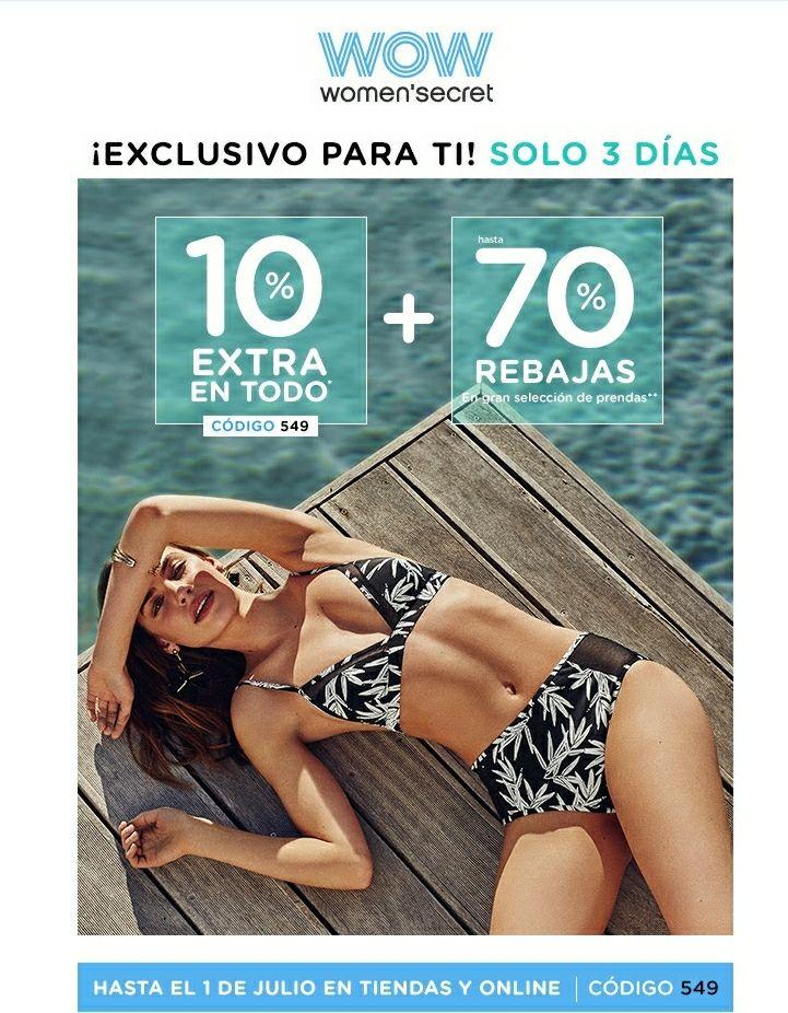 70% en REBAJAS + UN 10% MÁS (women secret)