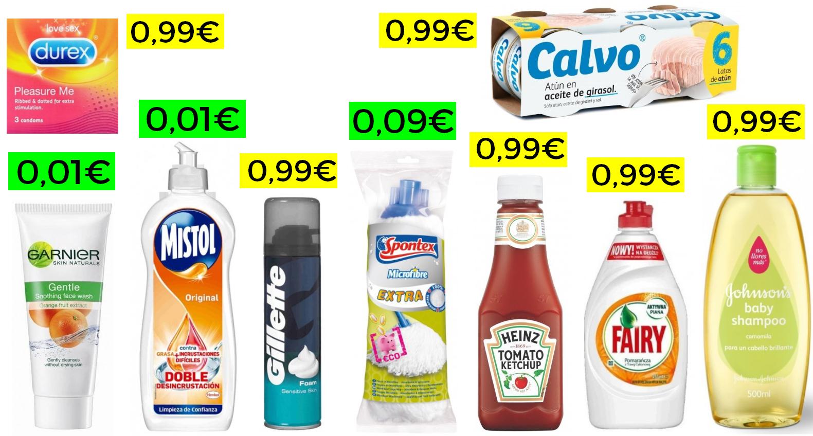 Más de 100 productos super a menos de 1€