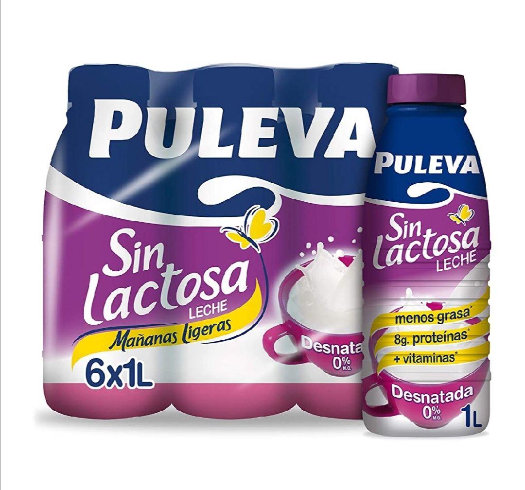 Puleva Leche Mañanas Ligeras Desnatada Sin lactosa - Pack 6 x 1 L - Total: 6 L (compra recurrente)
