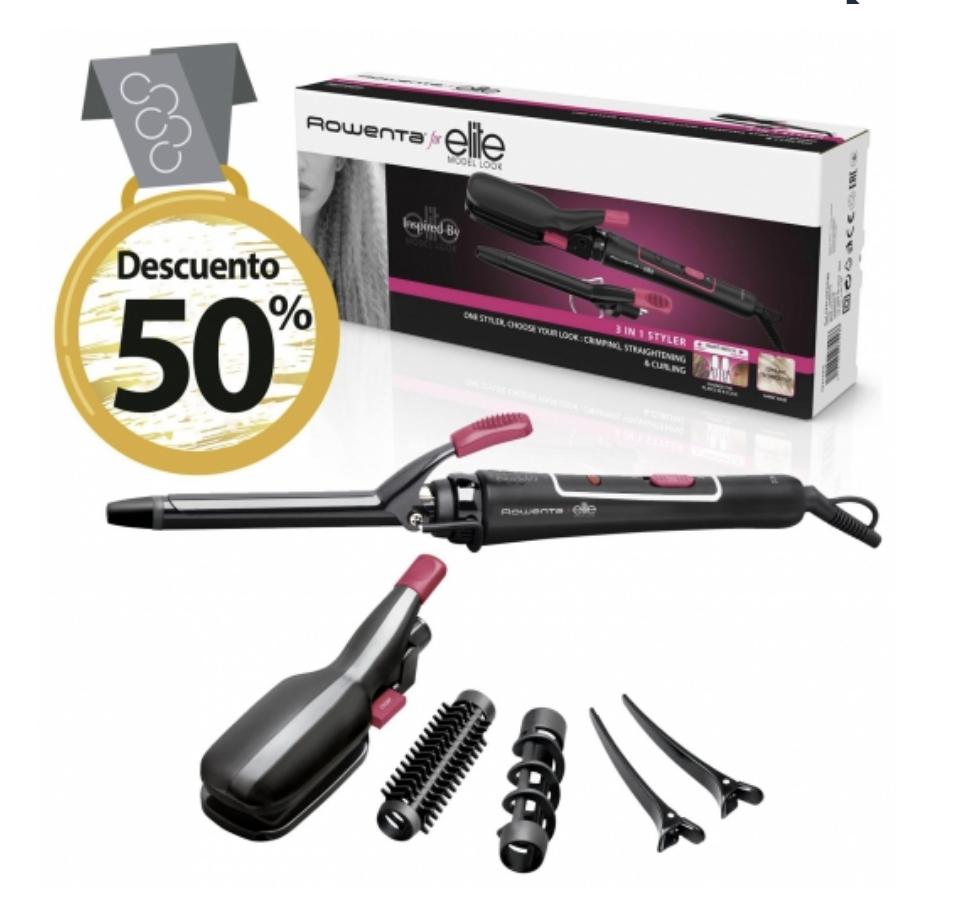 Rizador de pelo Rowenta a 20€ y más productos al 50%