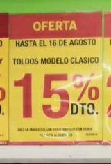 15% DTO en toldos modelo clásico Leroy Merlín tienda Majadahonda