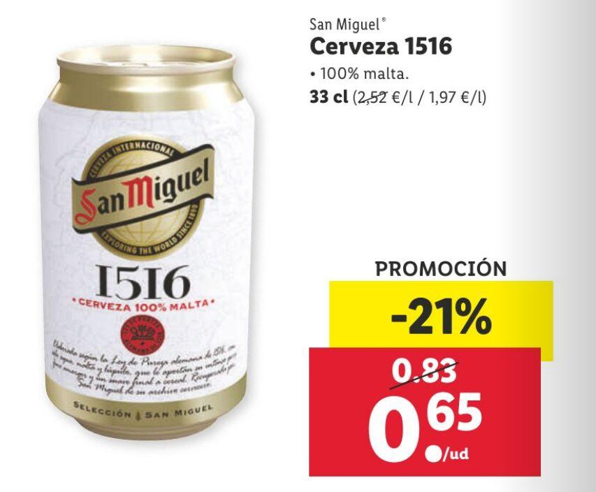 Cerveza San Miguel 1516 100% Malta